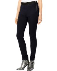 Karen Millen - Stretch Denim Legging - Lyst