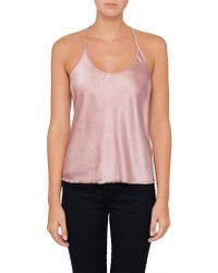 T By Alexander Wang - Wash & Go Open Shoulder Long Sleeve Top - Lyst