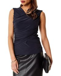 Karen Millen - Draped Wrap Top - Lyst