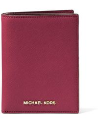 Michael Kors - Jet Set Travel Saffiano Passport Wallet - Lyst