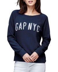 Gap - Nyc Logo Crew Pullover - Lyst