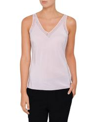 Ted Baker - Leiaa V Neck Trim Cami - Lyst