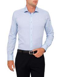 Geoffrey Beene | 56th St Dobby Stretch Body Fit Shirt | Lyst