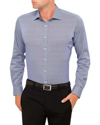Geoffrey Beene | Times Square Stretch Tooth Body Fit Shirt | Lyst