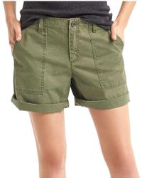 Gap - Girlfriend Utility Shorts - Lyst