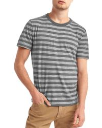 Gap - Stripe Crew Slub T-shirt - Lyst