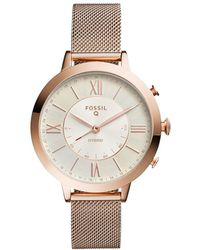 Fossil - Q Jacqueline Rose Gold-tone Hybrid Smartwatch - Lyst