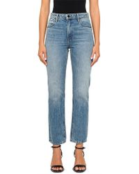 T By Alexander Wang - Cult Cropped Straight Light Indigo Aged - Lyst