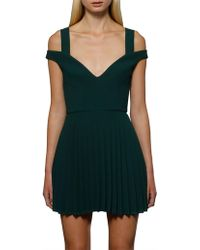 BY JOHNNY. - Emerald City Pleat Dress - Lyst