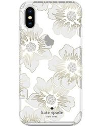 Kate Spade - Hard Case For Iphone Xs / X - Hollyhock Floral Clear - Lyst