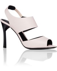 Emporio Armani - 95mm Double Strap Sling Sandal - Lyst
