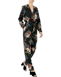 d7c9a29fe205 Nicholas Evie Floral Bell Sleeve Romper in Pink - Lyst