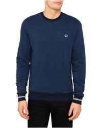 Fred Perry - Crew Neck Sweat - Lyst
