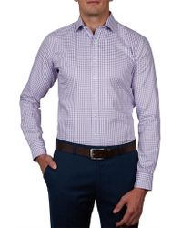 Geoffrey Beene - Concord Check Body Fit Shirt - Lyst