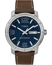 Timex - Mod Leather Strap Watch - Lyst