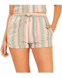 MINKPINK - Intrepid Stripe Shorts - Lyst