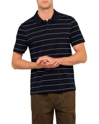 Vince - Pencil Stripe S/s Polo - Lyst