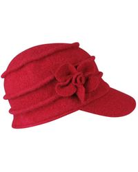 Morgan Taylor - Knit Cap With Tucks And Self Flower - Lyst