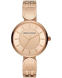 Armani Exchange - Women's Rose Gold-tone Watch - Lyst