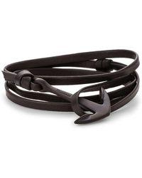 Miansai   Anchor On Leather Bracelet   Lyst