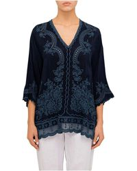 Johnny Was - Embroidered Blouse - Lyst