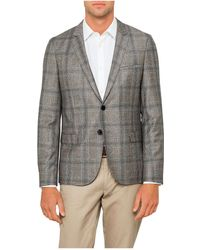 BOSS - 2b Sb Cv Wool Plaid Check Deco Jacket - Lyst