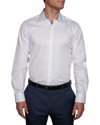 Geoffrey Beene - Cuba Self Check Slim Fit Shirt - Lyst