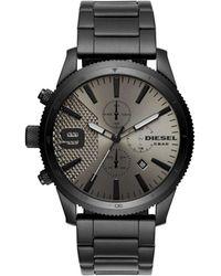 DIESEL - Rasp Chrono 46mm Black Watch - Lyst