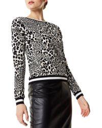 Karen Millen - Leopard Print Sweatshirt - Lyst