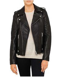 ENA PELLY - Minimalist Biker Jacket (pebbled) - Lyst