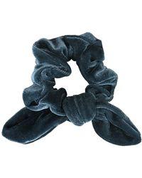 Morgan Taylor - Plain Velvet Scrunchies With Tails - Lyst