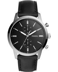 Fossil - 44mm Townsman Black Watch - Lyst