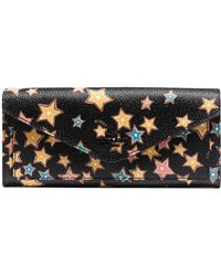 COACH - Soft Wallet In Starlight Print Coated Canvas - Lyst