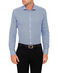 Geoffrey Beene   Mendacino Medallion Body Fit Shirt   Lyst