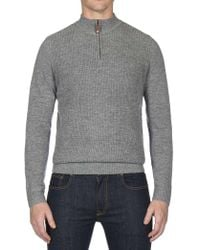 Ben Sherman - Micro Texture Qtr Funnel Neck - Lyst