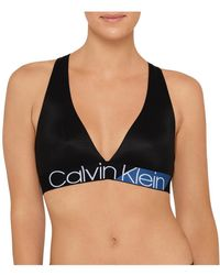 Calvin Klein - Bold Accents Unlined Bralette - Lyst