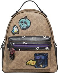 COACH - Multi Patches Campus Backpack Tan Black Multi - Lyst