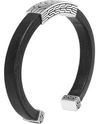 John Hardy - Classic Chain 8mm Cuff In Silver And Leather - Lyst