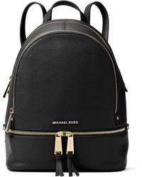 Michael Kors - Rhea Small Leather Backpack - Lyst