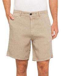 BOSS Orange - Linen Shorts - Lyst