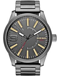 DIESEL - Rasp Grey Watch - Lyst