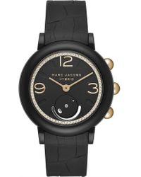 Marc Jacobs - Riley Black Hybrid Smartwatch - Lyst