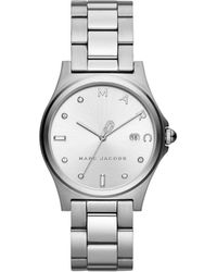 Marc By Marc Jacobs Henry Silver-tone Watch - Metallic