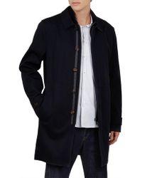 Ted Baker - Flat Front Long Mac Overcoat - Lyst
