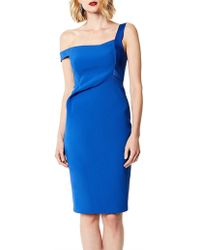 Karen Millen - Asymmetric Strap Bodycon Dress - Lyst