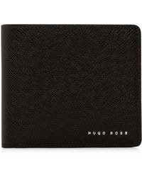 BOSS - Signature Embossed Leather 8cc Billfold Wallet - Lyst