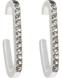 Rebecca Minkoff - Mini Pave Safety Pin Earring - Lyst