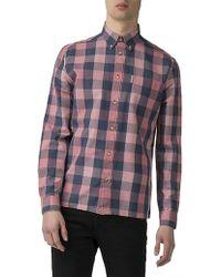 Ben Sherman - Ls Linen Slub Buffalo Shirt - Lyst