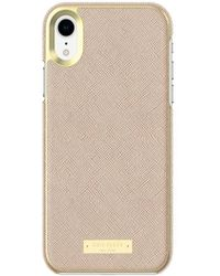 Kate Spade - Wrap Case For Iphone Xr - Saffiano Rose Gold - Lyst