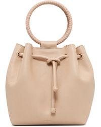 Theory - Leather Hoop Handle Shoulder Bag - Lyst
